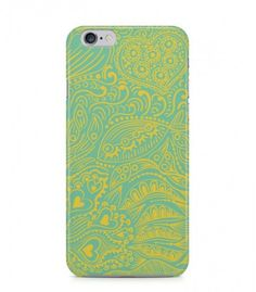 Yellow Fish and Hearts Abstract Seamless 3D Iphone Case for Iphone 3G/4/4g/4s/5/5s/6/6s/6s Plus - ABSTSEAM0013 - FavCases