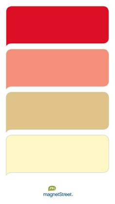Scarlet, Coral, Gold, and Butter Wedding Color Palette - custom color palette created at MagnetStreet.com