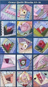 Crazy Quilt Blocks Book by Linda Causee--you can still get it for a reasonable price at Amazon.