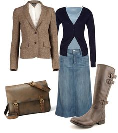 """""""Blue 'n Brown"""" by daisyhedo ❤ liked on Polyvore"""