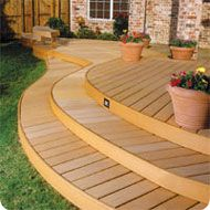 deck with big steps down is my dream You are welcome to Pins some of your projects to my site; Normoe, the Backyard Guy http://www.pinterest.com/backyardguy/ and follow me; http://twitter.com/backyardguy