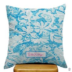 Lilly Pulitzer Blue Floral Custom Pillow Cases