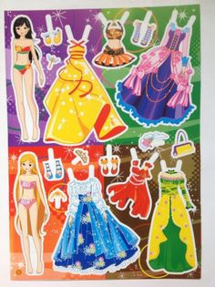 New Lot of Uncut Fashions Paper Dolls Set of 6 Sheet Great Clothes Mixed Styles   eBay