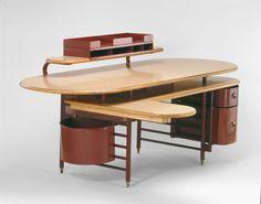 Designed by Frank Lloyd Wright American, 1867-1959 Made by Steelcase, Inc. American, established 1912 Desk, 1937/39