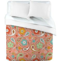 DENY Designs Heather Dutton Adora Paisley Duvet Cover, Twin by DENY Designs. $169.00. Closure: Metal snaps seen in snap closure view. Manufacturing: 6 color dye process, custom printed for every order. Color - Top: Full color | Color - Bottom: White. Fabric: Ultra soft, 100% polyester microfiber. Metal snaps for closure. Turn your basic, boring down comforter into the super stylish focal point of your bedroom with this DENY Designs duvet cover. Custom printed when you orde...