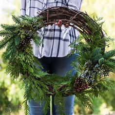 Ring in the holidays with trending farm-fresh wreaths #holidays #wreaths #holidaydecorating