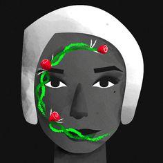 Illustration by Fabiola Correas #36daysoftype #36days_c #illustration #character #characterdesign #plants