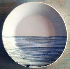 porcelain small dish screenprinted design   MADE by mbartstudios, $32.00