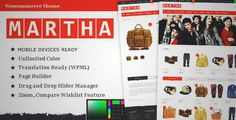 Download and review of Martha - Woocommerce WordPress Theme, one of the best Themeforest eCommerces themes