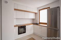 Nowoczesna kuchnia biel i drewno #kuchnianawymiar #meble #designe