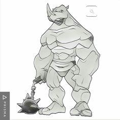 Rhino desing tattoo