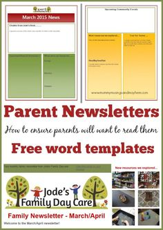 Tips for how to write effective and interesting newsletters for parents using early childhood services - Includes free templates. Find out more at Mummy Musings and Mayhem