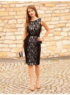 Sukienka z baskinką czarny II
