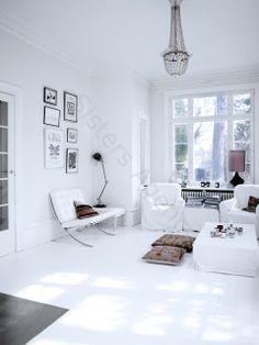 Lovenordic Design Blog: All white house...