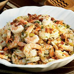Fresh Spring Salads: Shrimp and Hoppin' John Salad - 30 Healthy Summer Salads - Coastal Living Mobile Summer Salad Recipes, Healthy Salad Recipes, Summer Salads, Healthy Summer, Easy Recipes, Hoppin John Salad Recipe, Seafood Dishes, Seafood Recipes, Drink Recipes