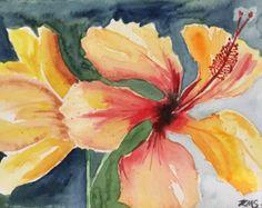 Original Bearded Iris Watercolor by DoctorKMSPaintings on Etsy