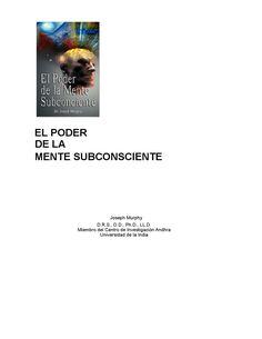 El poder de la mente subconsciente -joseph murphy