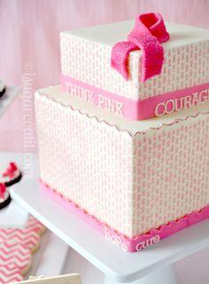 gastrogirl:    breast cancer awareness cake.