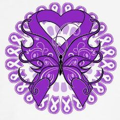 Alzheimer's Purple Ribbon and Butterfly. Good concept for a tattoo Fibromyalgia Awareness Day, Dementia Awareness, Awareness Tattoo, Alzheimers Awareness, Alzheimer's And Dementia, Cancer Awareness, Alzheimers Tattoo, Purple Ribbon, Purple Butterfly
