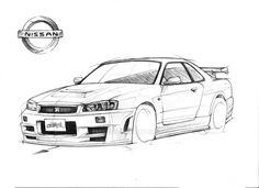 Nissan R-34 GT-R Nismo Z-tune Skyline by Blue-Raie