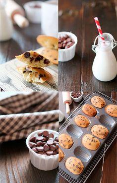 Madeleines con pepitas de chocolate