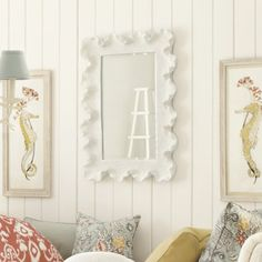 This is a really great mirror. I used the smaller size for a client. SO pretty in person. $199