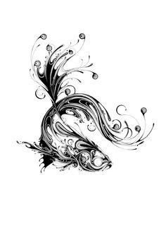 Beautiful, Striking Animal Portraits Created From Elaborate Ink Swirls - DesignTAXI.com