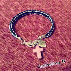 #pulsera #sencilla #cruz #corazón