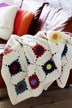 Crochet Afgans, Chrochet, Baby Knitting, Plaid, Diy Crafts, Turkis, Beige, Inspiration, Granny Squares