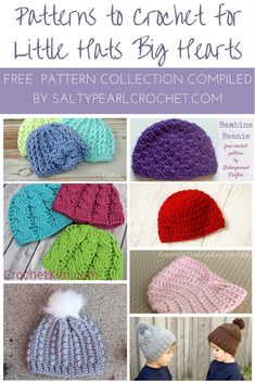 805434417ea Pattern Collection  Free Patterns for Newborn Hats - Crochet for Little Hats  Big Hearts or Your Favorite Charity