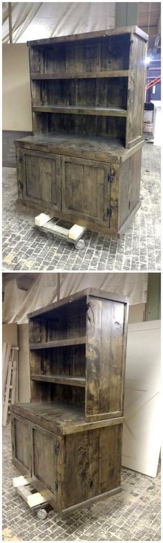 nice pallet wood hutch design