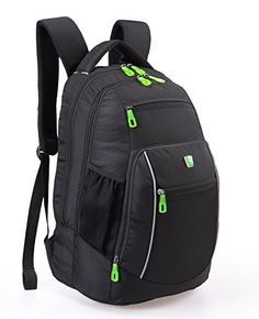Go Tour Lightweight Business Laptop Backpack Water Resistance Travel Bag Knapsack Fits up to 156 Laptop Macbook Computer Backpack  Black *** You can get more details by clicking on the image.