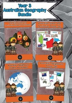 A huge bundle of pages for teaching about Australian states, territories and neighbouring countries. Geography Activities, Geography Lessons, Teaching Geography, Creative Activities, Classroom Activities, Classroom Ideas, Country Information, Inquiry Based Learning, Inspired Learning