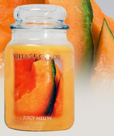 Juicy Melon- Village Classics - Rich blend of Peaches, bright notes of melons and summer fruits, all perfectly sprinkled with vanilla. #villagecandle