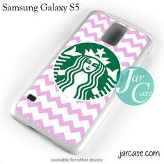 Starbucks Pink Chevron Phone case for samsung galaxy S3/S4/S5
