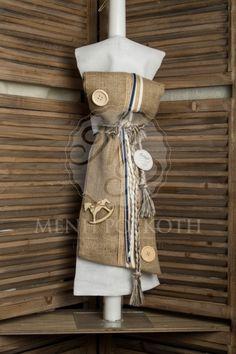 Λαμπάδα βάπτισης για αγόρι λινάτσα και αλογάκι ξύλινο Special Occasion, Reusable Tote Bags, Easter, Candles, Kids, Weddings, Google Search, Vintage, Young Children