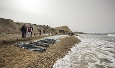 Photo Source: Libyan Red Crescent CAIRO – Dozens of bodies washed ashore on Libya's western Mediterranean sea coast on Tuesday, the latest tragedy to strik Hieronymus Bosch, Costa, African Nations, Mediterranean Sea, West Africa, Cairo, Monument Valley, Westerns, Explore