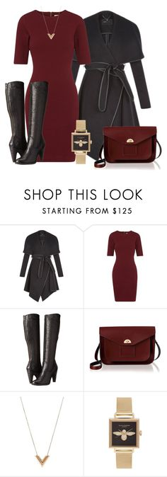 """Winter Professional Wardrobe Capsule: Outfit 19"" by vanessa-bohlmann ❤ liked on Polyvore featuring BCBGeneration, Whistles, Frye, The Cambridge Satchel Company, Louis Vuitton and Olivia Burton"