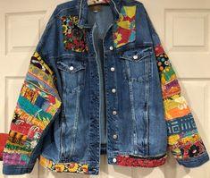 Items similar to jean jacket hippie boho embellished colorful denim jean jacket on Etsy Boho Gypsy, Boho Hippie, Jean Hippie, Hippie Jeans, Denim Jeans, Blue Jeans, Patched Jeans, Denim Art, Painted Clothes