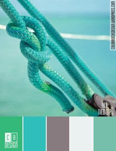 Aqua rope turquoise and ocean Vert Turquoise, Shades Of Turquoise, Shades Of Blue, Teal, Green Aqua, Yellow, Tiffany Blue, Azul Tiffany, Belle Photo