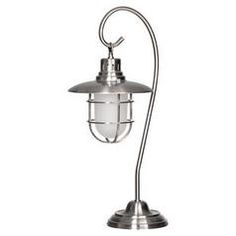 For living room: Lanterna Polished Steel Table Lamp Polished Steel, Floor Lamp, Home Lighting, Lamp, Steel Table, Lights, Urban Barn, Home Decor, Steel