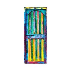 Multi-coloured door ❤ liked on Polyvore