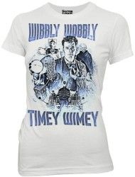 Doctor Who David Tennant Wibbly Wobbly Timey Wimey Juniors Tee-Large Tenth Doctor, Doctor Who, Dr Who Toys, Rose Tyler, David Tennant, Branded T Shirts, My Style, Tees, Mens Tops