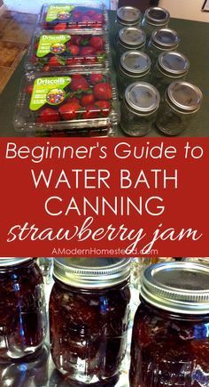 Water bath canning step by step guide. Wow, I could actually do this! I can't wait to try, plus I LOVE strawberry jam!!