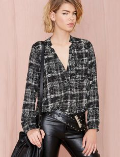 Shop Black Long Sleeve V Neck Plaid Blouse online. Sheinside offers Black Long Sleeve V Neck Plaid Blouse & more to fit your fashionable needs. Free Shipping Worldwide!