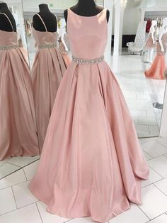 Prom Dress Princess, Simple Blush Pink Prom Dress,Round Neckline Graduation Party Dress Shop ball gown prom dresses and gowns and become a princess on prom night. prom ball gowns in every size, from juniors to plus size. Blush Pink Prom Dresses, Elegant Bridesmaid Dresses, Pink Party Dresses, Ball Dresses, Ball Gowns, Blush Prom, Pageant Dresses For Teens, Formal Evening Dresses, Pastel Dress Formal