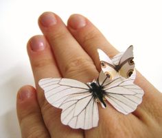 Large White Statement Ring Wedding Woodland by SpotLightJewelry, $19.95