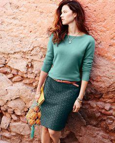 Lace Pencil Skirt - Garnet Hill