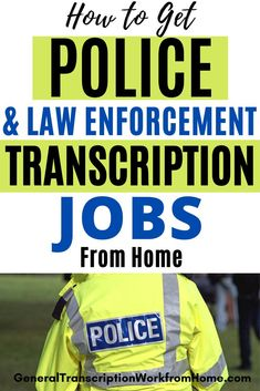 How to become a law enforcement transcriptionist and get police and law enforcement transcription jobs from home + 4 companies recruiting law enforcement transcriptionists. #transcription #transcriptionjobs #transcriptionwork #workfromhome #onlinejobs Typing Jobs From Home, Work From Home Jobs, Make Money From Home, How To Make Money, How To Become, Transcription Jobs From Home, Transcription Jobs For Beginners, Online Side Jobs, Best Online Jobs