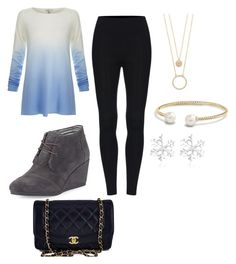"""""""Untitled #29"""" by sashalong on Polyvore featuring Joie, TOMS, Chanel, Kate Spade and David Yurman"""